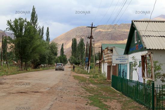 Village Street in Kyzyl Oi, Kökomeren Valley, Cental Kyrgyzstan