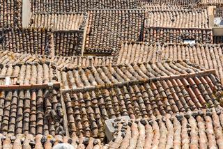 Die Dächer von Gangi auf Sizilien