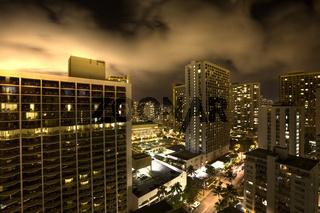 Honolulu bei Nacht