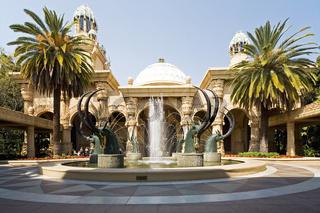 Sable Fountain Entrance, Springbrunnen, fountain, Lost City, Sun City, Suedafrika, Afrika, South Africa