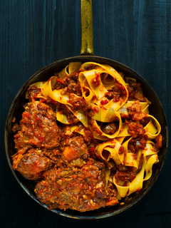 rustic italian oxtail ragu pappardelle pasta