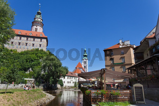 Ansicht der Stadt Krumau in Tschechien, Europa