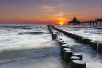 Heringsdorf pier on the island of Usedom, Germany