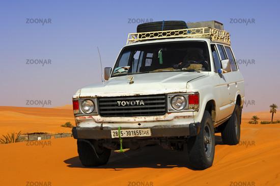 Toyota Jeep on a desert track