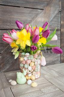 Bunch of fresh tulips