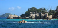 Famous granite rocks at the Coco Island