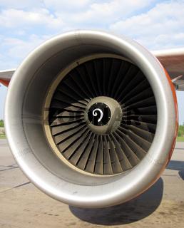 Ein Triebwerk eines Airbus