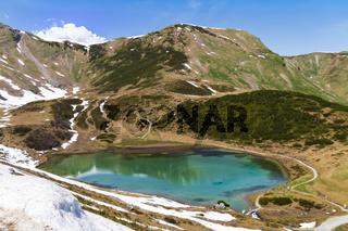 Schlappoltsee, Fellhorn, Allgäuer Alpen, Österreich, Mai