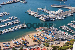 Blanes Sea Marina Aerial View