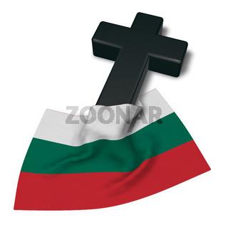 christliches kreuz und flagge von bulgarien - 3d rendering