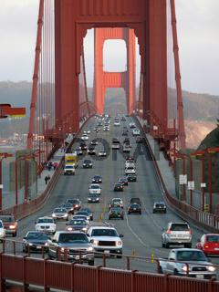 Verkehr auf der Golden Gate Bridge - Traffic at
