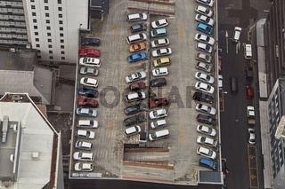 Cars parking on a rooftop