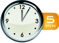 office wall clock timer 5 minutes