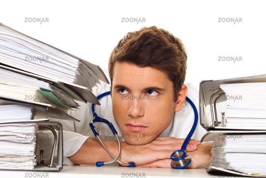 Stressed Doctor