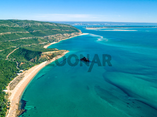 Aerial View Ocean Coastal Landscape of Nature Park