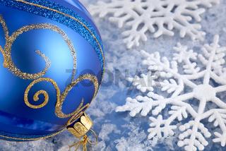 Winterfreude in Blau