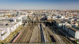 Railway tracks leading to Munich Main Station