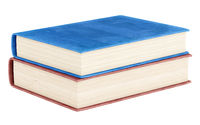 two books isolated on white background. 3d illustration