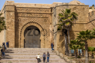 Great Gate Entrance Kasbah of Oudayas Rabat Morocco