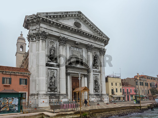 View to detail Church Il Gesuati or Church Santa Maria del Rosario