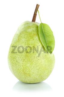Birne Frucht grün frisch Obst Freisteller freigestellt isoliert