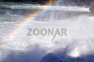 Rainbow over whitewater