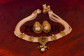 Silver necklace and earrings set, Pune