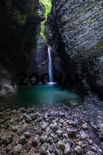 Waterfall Kozjak in Slovenia Julian Alps.