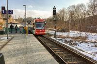 Citylink-Train in Annaberg-Buchholz (Saxony)