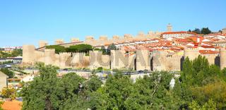 Panoramic view of Avila
