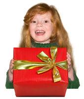 Girl with xmas gift