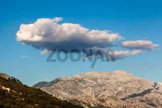 Clouds above Biokovo Mountain Range, Dalmatia, Croatia