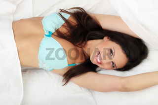 Cute young woman sleeping