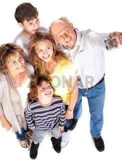 Self portrait of happy family