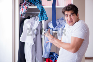 Man helpless with dirty clothing after separating from wife