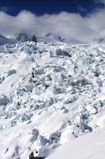 Eisbrüche des Geant-Gletschers, Frankreich