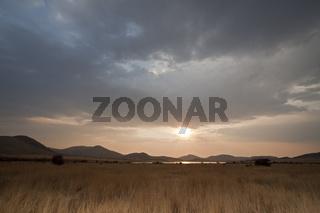 Lake Mankwe im Pilanesberg National Park, Suedafrika, Afrika, Pilanesberg Game Reserve, South Africa