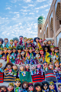 Uzbek puppets dressed in traditional clothes