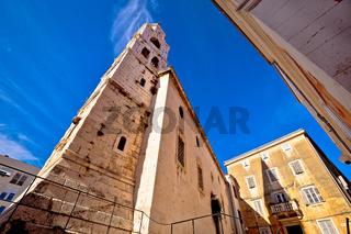 Church and stone square in Zadar