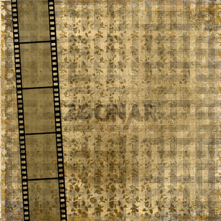 Old paper with ancient ornament and filmstrip