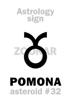 Astrology: asteroid POMONA