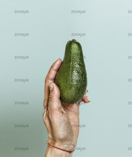Style minimalism. Ripe avocado