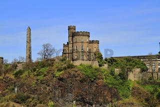 A beautiful view of Calton Hill in Edinburgh, Scotland,UK