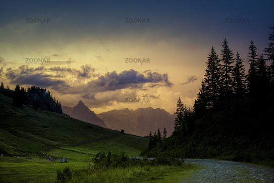 Evening in the Alps