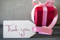 Pink Gift, Calligraphy, Text Thank You