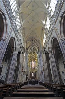 Mittelschiff, gotischer Veitsdom, St.-Veits-Dom, Prager Burg, Hr