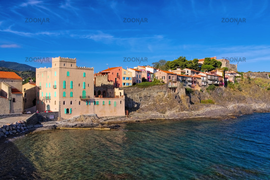 Collioure in Frankreich - the town Collioure in France