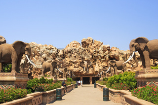 The Bridge of Time facing the Entertainment Centre, Sun City, South Africa, Africa