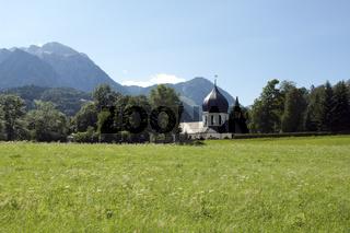 Kapelle, Bergfriedhof, Berchtegaden, Oberbayern