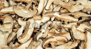 Dried mushrooms | getrocknete Shiitake Pilze